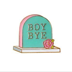 Jewelry - 'Boy Bye' Gravestone Enamel Pin